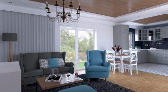 Pekný bungalov pri hrádzi. Návrh interiéru v cene domu!